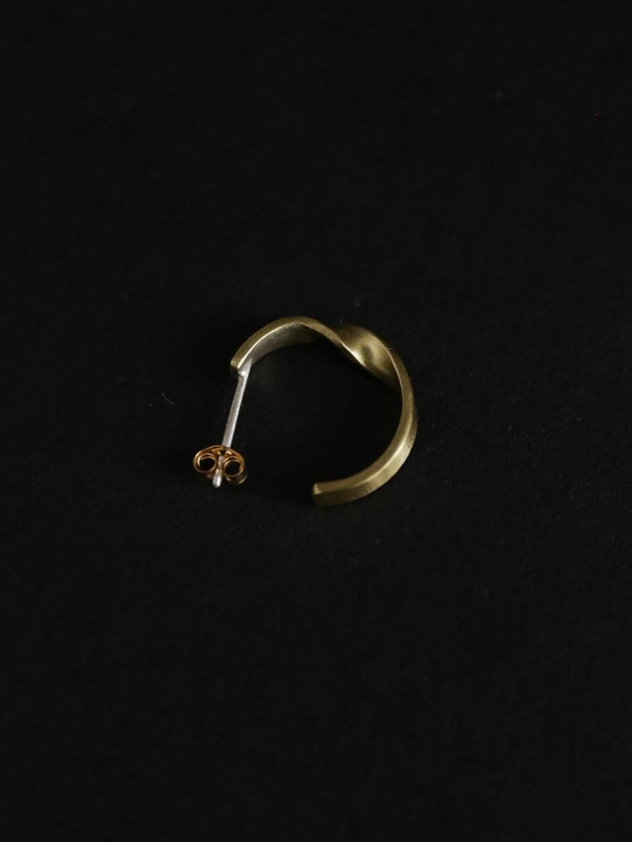 plate earring M _twist