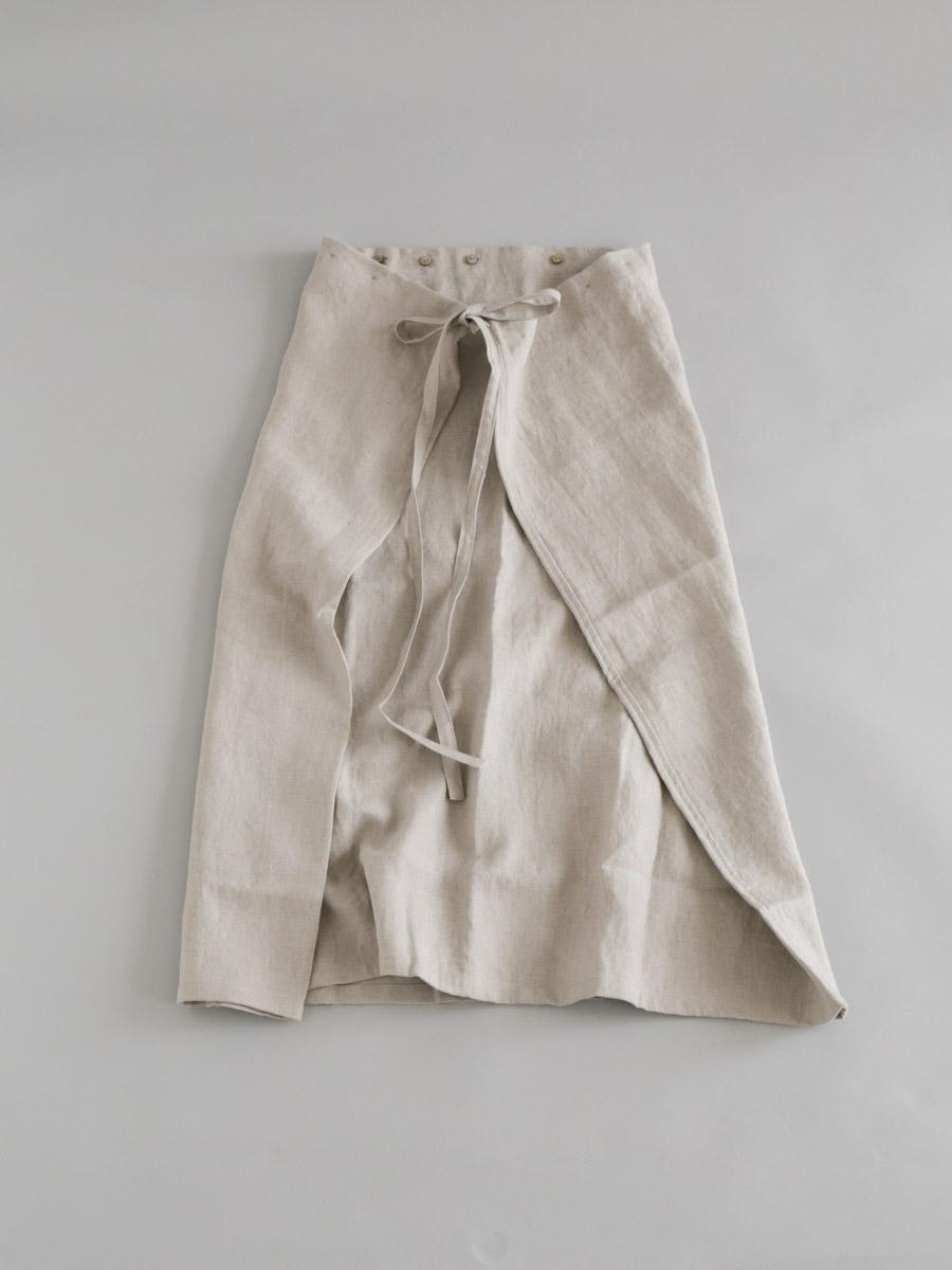 オックスリネンフォールドスカート